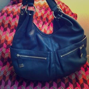 Michael Kors blue hobo bag